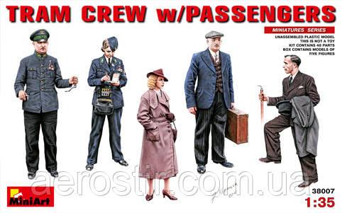 TRAM CREW w\PASSENGERS \5 фигур\     1.35    MiniART  38007