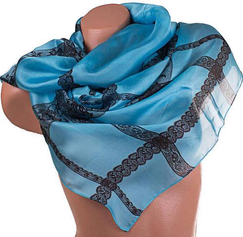 Оригинальный атласный женский шарф 176*86 см ETERNO (ЭТЕРНО) ES0406-4-6