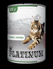 PLATINUM Chicken мясная сбалансированная консерва для кошек, 415 гр