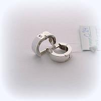 Серебряные серьги-колечки