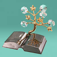 "Фигурка статуэтка с камнями Swarovski ""Дерево и библия"""