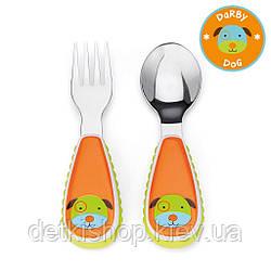 Ложка и вилка Skip Hop Zootensils Fork&Spoon Собачка