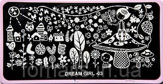 Диск для стемпинга Dream Girl-03