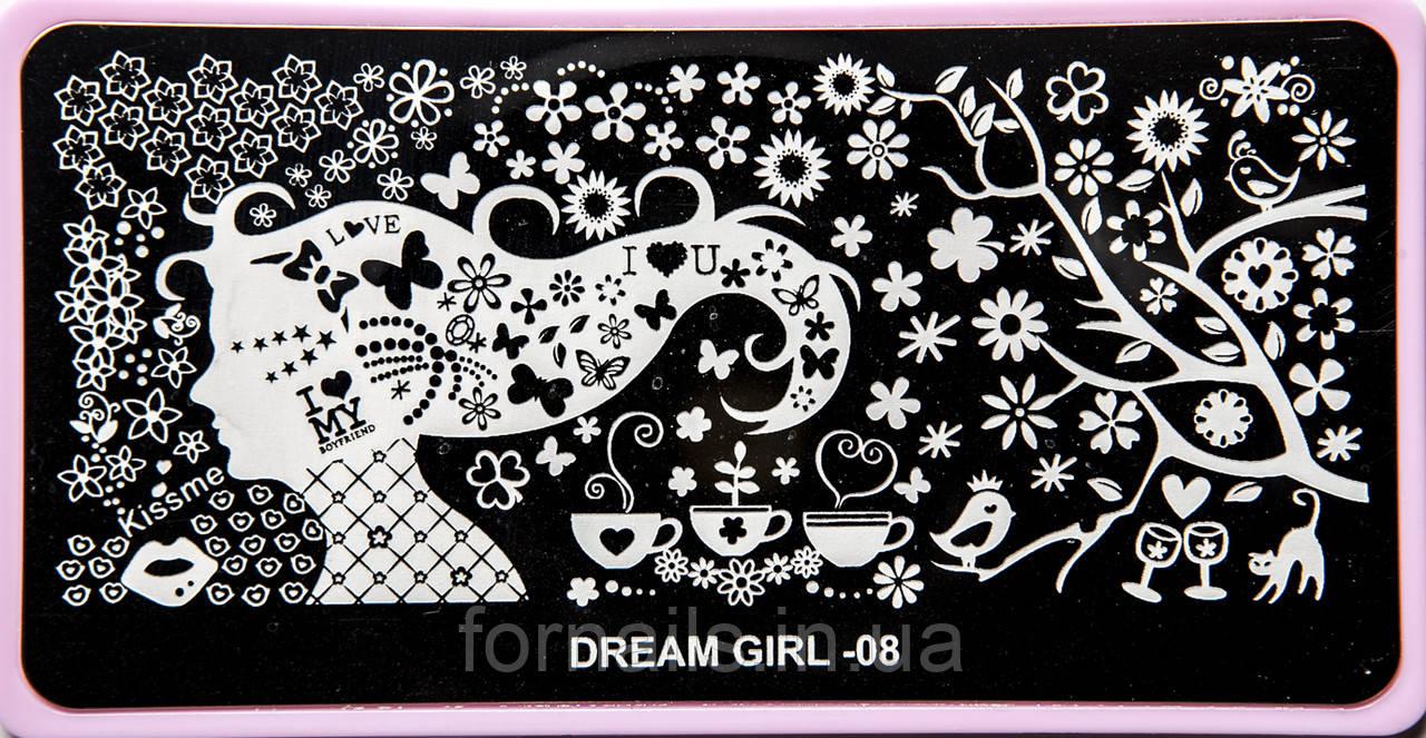 Диск для стемпинга Dream Girl-08