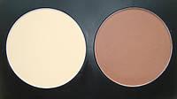Палитра сухих контуров корректоров /пудр 2 цвета коричневый и пудра