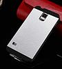 Чехол серебряный Motomo на Samsung GalaxyS4 (i9500)