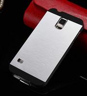 Чехол серебряный Motomo на Samsung GalaxyS4 (i9500), фото 1