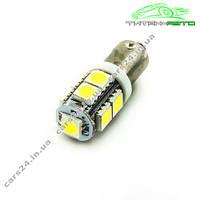 Лампа светодиодная 12V T4W BA9S 9smd 5050 Белый (14120), фото 1