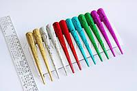 Заколка уточка стрела для волос металлическая с рисунками, длина: 13 см, 12 штук в упаковке