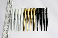 Заколка уточка стрела металлическая, длина: 13 см, 12 штук в упаковке