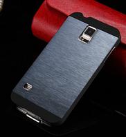 Чехол синий Motomo на Samsung GalaxyS4 (i9500)