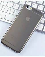 Чехол силиконовый 0.3мм для iPhone 6/6s, прозрачный черный