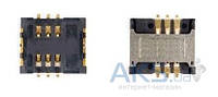 (Коннектор) Aksline Разъем SIM-карты LG 510W / G3100 / G5200 / G5220C / G5300 / W3000 / W7030