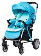 Детская коляска Bair Fox Blue светлобирюзовый-темнобирюзовый