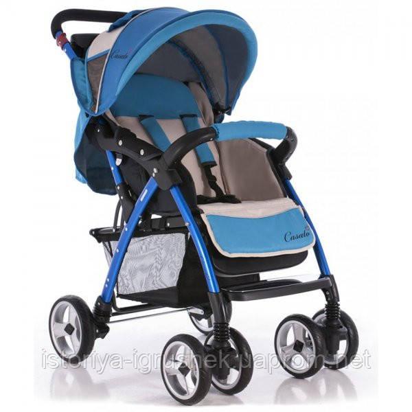 Детская коляска Casato SK-340 Blue бело-голубой