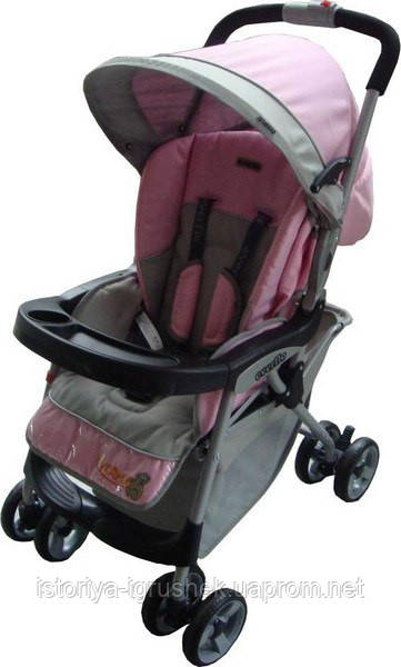Детская прогулочная коляска Everflo E-301 pink/grey