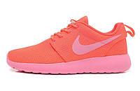 Женские кроссовки Nike roshe run pink