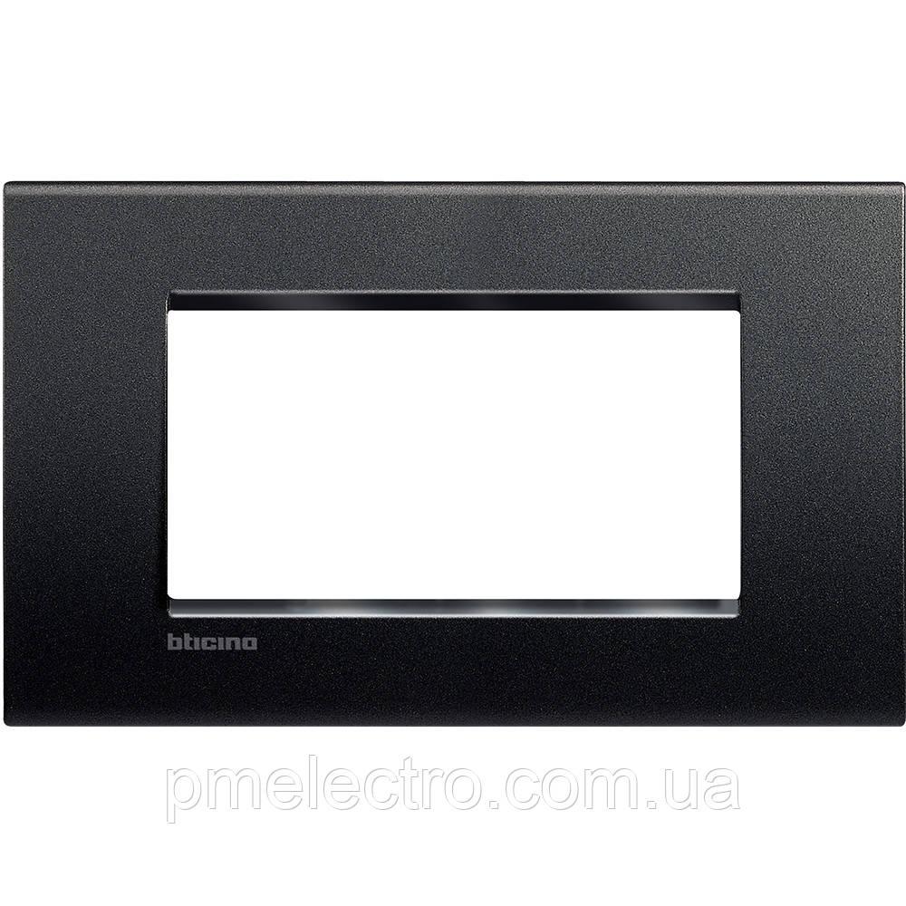 LivingLight Рамка прямоугольная, 4 модуля, цвет Антрацит