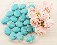 Бусины из натурального камня Бирюза (3штуки) 12мм(товар при заказе от 500грн)