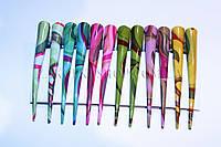 Заколка уточка стрела для волос металлическая, длина: 13 см, 12 штук в упаковке