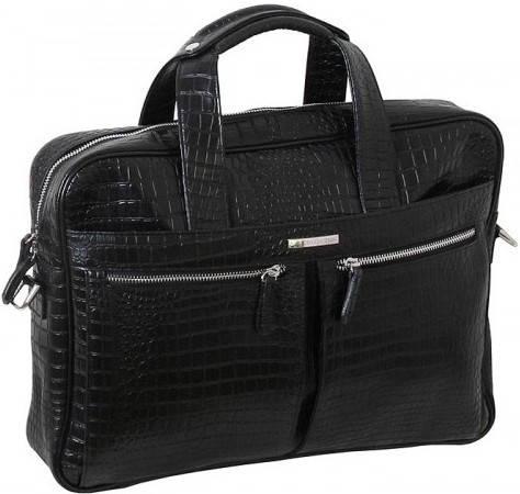 """Модная сумка для ноутбука 15,6"""" Vip Collection 50104A croc черный"""