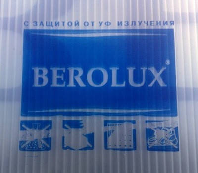 Cотовый поликарбонат прозрачный Berolux 8 мм
