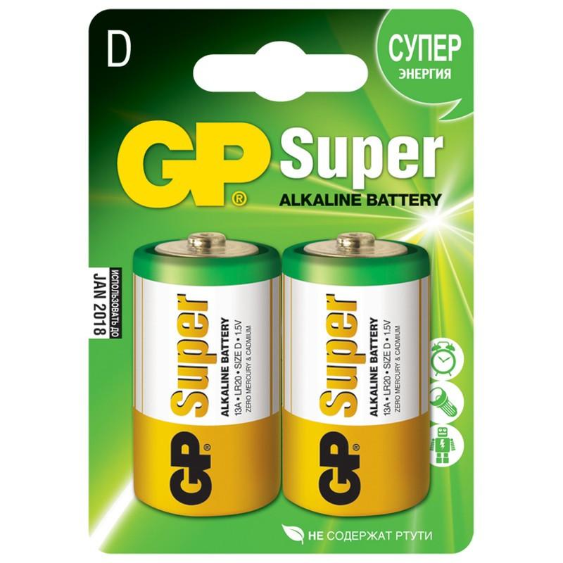 Батарейка GP SUPER LR20  1х2