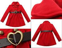Пальто красное сердце Richie House