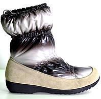Ботинки женские зимние из натуральной кожи без каблука