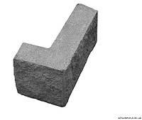 Блок колотый угловой для забора