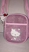 Детская розовая блестящая сумочка 7773