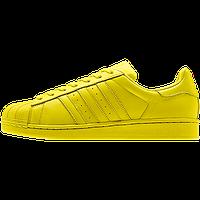 Кроссовки женские Adidas Superstar Supercolor (в стиле адидас) желтые, фото 1
