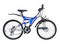 Подростковый двухподвесный велосипед Azimut Sprint D 24