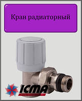 """Терморегулирующий вентиль 3/4"""" ICMA с ручным и термостатическим управлением (угловой)"""