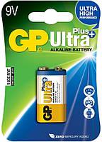 Батарейка GP ULTRA PLUS 6F22 (крона) блист.