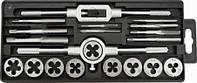 Плашки и метчики, M3 - M12, набор 20 шт. (шт.) TOPEX (14A425)