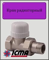 """Кран радиаторный Тэрмо 1/2"""" ICMA прямой"""