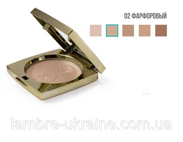 Компактна пудра Ламбре № 2 - порцеляновий тон - Compact powder Lambre (9г)