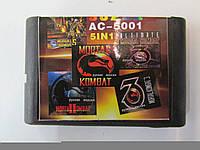 Mortal Kombat 5 в 1 сборник игр Sega 16 бит
