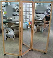 Напольное зеркало - ширма на колесах 8в02.9.1