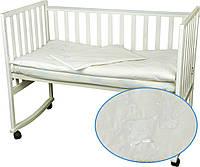 Комплект белого детского постельного белья сатин, фото 1