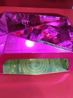 УФ LED ЛАМПА + CCFL  36ВТ, ЛАМПА ГИБРИД золото, фото 2