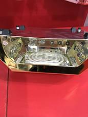 УФ LED ЛАМПА + CCFL  36ВТ, ЛАМПА ГИБРИД золото, фото 3