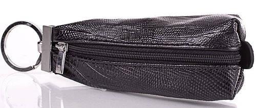 Строгая мужская кожаная ключница DESISAN (ДЕСИСАН) SHI200-2LAZ (черный)