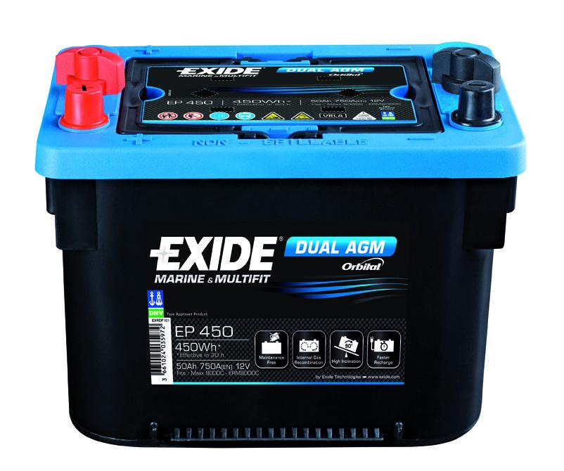 Аккумулятор Exide Dual AGM EP 800 (92А/ч)