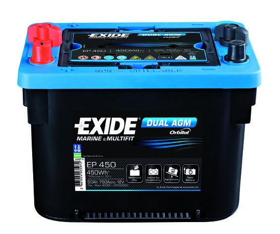 Аккумулятор Exide Dual AGM EP 800 (92А/ч), фото 2