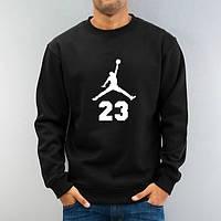 Свитшот мужской черный с принтом Jordan 23 Джордан