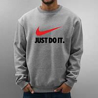 """Свитшот мужской спортивный серый """"Nike"""" Найк"""