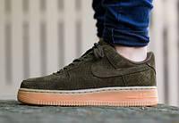 Кроссовки мужские Nike Air Force Low Dark Loden  (найк форс, оригинал) песочные