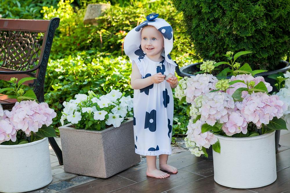 Шляпа в цветочек р-ры 2-6 лет, 7-11 лет